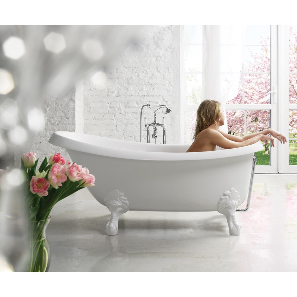 Aquatica Nostalgia Freestanding Cast Stone Bathtub - White