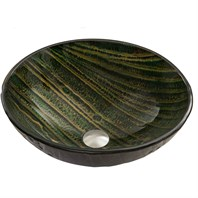 VIGO Green Asteroid Glass Vessel Sink VG07055