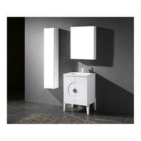 "Madeli Genova 24"" Bathroom Vanity for Integrated Basin - Glossy White B922-24-001-GW"
