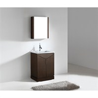 "Madeli Savona 24"" Bathroom Vanity with Quartzstone Top - Walnut B925-24-001-WA-QUARTZ"