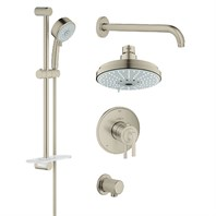 Grohe Atrio Grohflex Bath and Shower Set with Thermostat Valve - Brushed Nickel GRO 35056EN0
