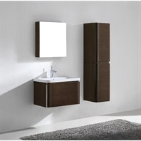 "Madeli Euro 30"" Bathroom Vanity with Integrated Basin - Walnut Euro-30-WA"