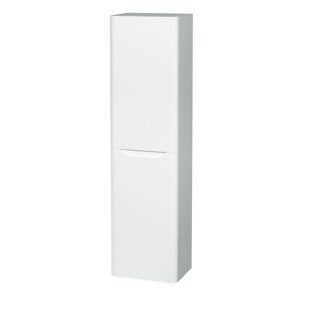 Murano Wall-Mounted Side Cabinet by Wyndham Collection - Glossy Whitenohtin