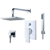 fluid Quad Pressure Balancing Shower Set with Handheld Trim Package F1641T-