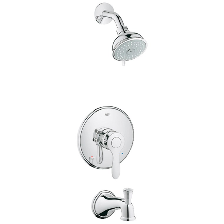 Grohe Parkfield Pressure Balance Valve Shower-Bath Combination - Starlight Chrome GRO 35040000