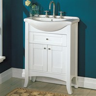 "Fairmont Designs 26"" Lifestyle Collection Eurotop Shaker Vanity - Dark Cherry or Polar White"