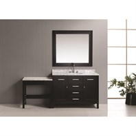 "Design Element London 48"" Bathroom Vanity Set with Make-up Table - Espresso DEC076C_MUT"