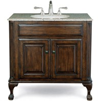 "Cole & Co. Custom Collection 37"" Classic/Estate Package, Midnight Black Top and White Sink - Antique Brown 12.11.275237.01PBL"