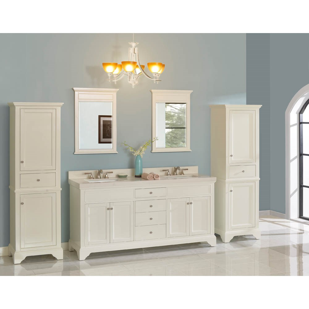 """Fairmont Designs Framingham 72"""" Double Bowl Vanity for Quartz Top - Polar Whitenohtin Sale $2110.00 SKU: 1502-V7221D_ :"""