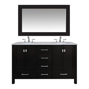 "Stufurhome 60"" Lissa Double Sink Bathroom Vanity, Espresso GM-6412-60-ESP by Stufurhome"