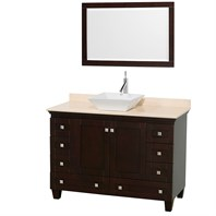 "Acclaim 48"" Single Bathroom Vanity for Vessel Sink by Wyndham Collection - Espresso WC-CG8000-48-SGL-VAN-ESP"