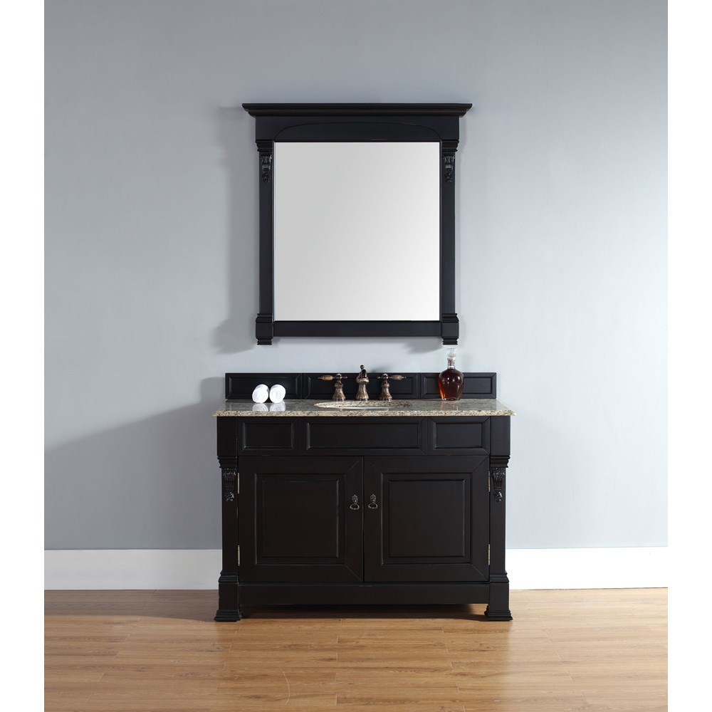 "James Martin 48"" Brookfield Single Vanity - Antique Blacknohtin Sale $1013.00 SKU: 147-114-5231 :"