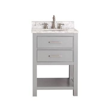 "Avanity Brooks 24"" Single Bathroom Vanity with Countertop, Chilled Gray BROOKS-24-CG by Avanity"