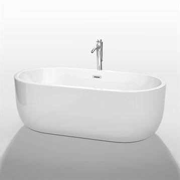 """Juliette 67"""" Soaking Bathtub by Wyndham Collection, White WC-BT1013-67 by Wyndham Collection®"""