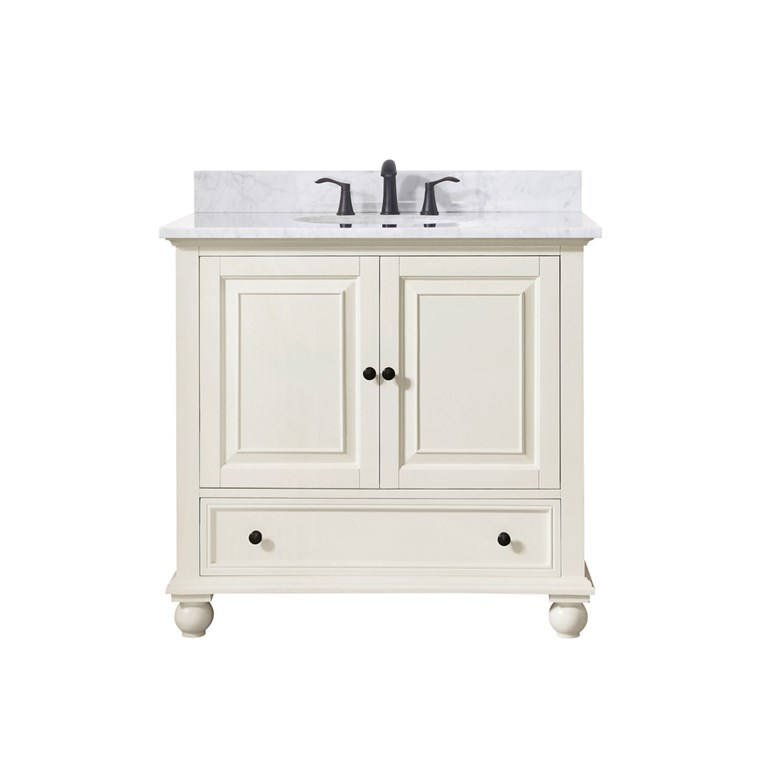 "Avanity Thompson 36"" Single Bathroom Vanity - French White THOMPSON-36-FW"