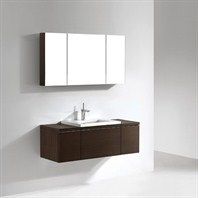 "Madeli Venasca 48"" Bathroom Vanity with Quartzstone Top - Walnut Venasca-48-WA-Quartz"