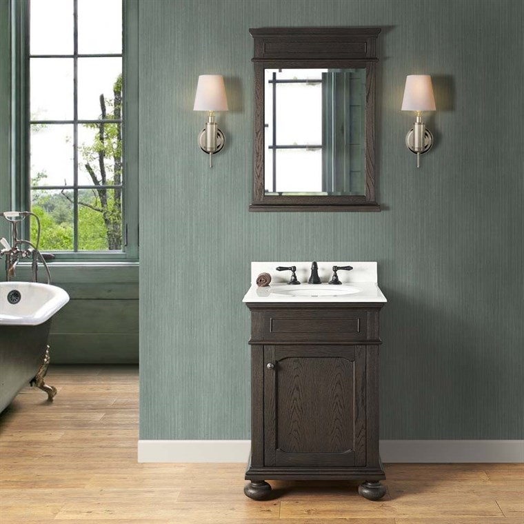 "Fairmont Designs Oakhurst 24"" Vanity for Undermount Oval - Burnt Chocolate 1536-V24_"