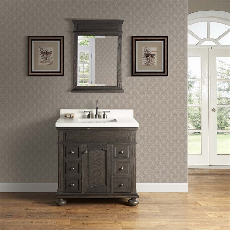 "Fairmont Designs Oakhurst 36"" Vanity - Burnt Chocolate 1536-V36"