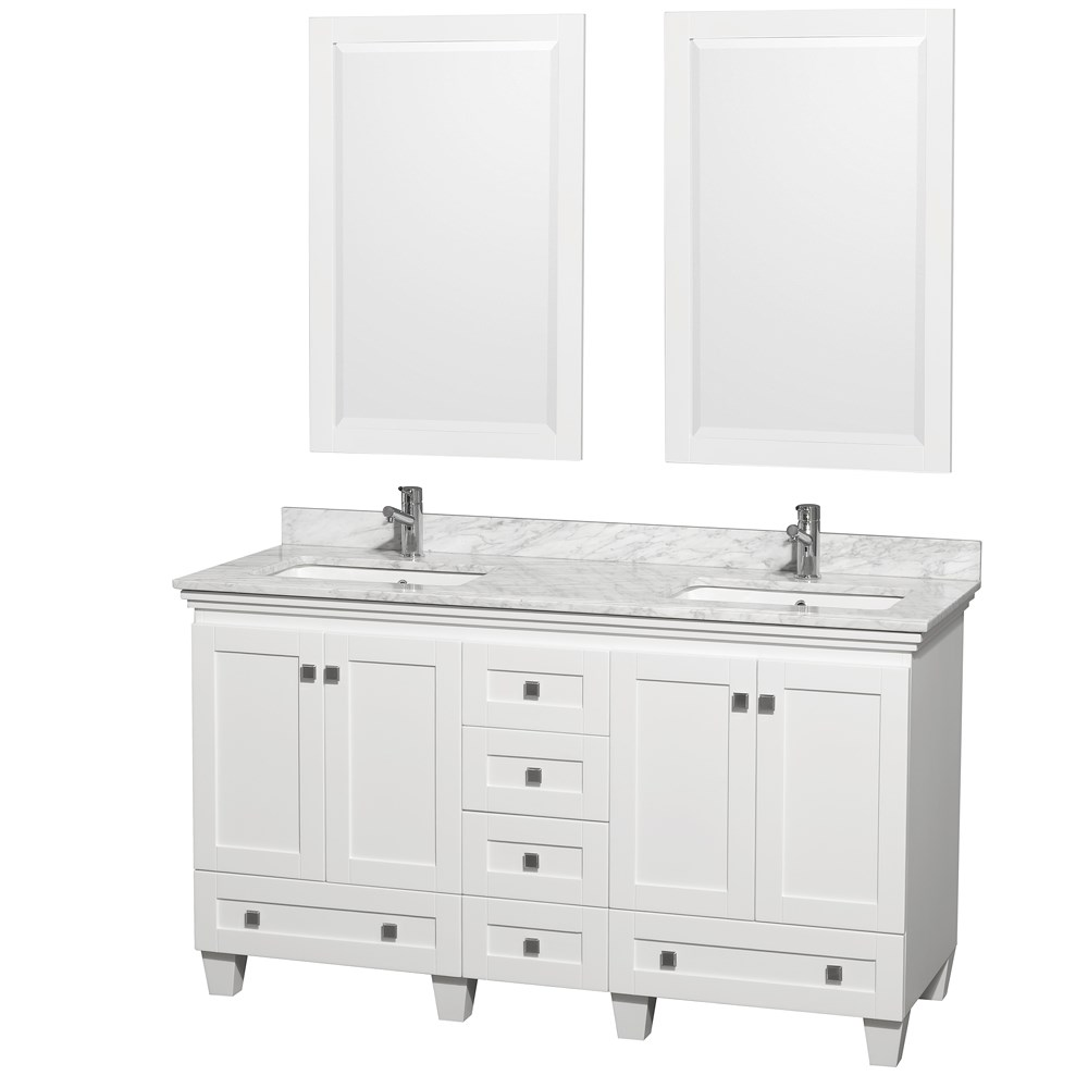 Acclaim 60 inch Double Bathroom Vanity by Wyndham Collection White