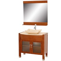 "Daytona 36"" Bathroom Vanity with Mirror - Cherry Finish A-W2109T-36-CH-IVO"