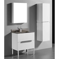 "Madeli Soho 30"" Bathroom Vanity for Integrated Basin - Glossy White B400-30-001-GW"
