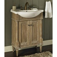 "Fairmont Designs Rustic Chic 26"" Vanity & Sink Set - Weathered Oak 142-V26"
