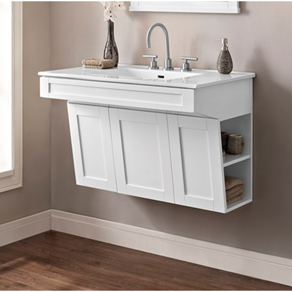 "Fairmont Designs Shaker Americana 36"" Wall Mount Vanity - Polar Whitenohtin Sale $855.00 SKU: 1512-WV3621 :"