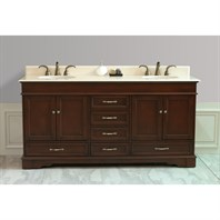 "Virtu USA 72"" Oxford Double Vanity - Antique Oak LD-3672-CM-AO"
