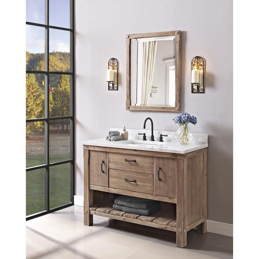 "Fairmont Designs Napa 48"" Open Shelf Vanity - Sonoma Sandnohtin Sale $1575.00 SKU: 1507-VH48 :"