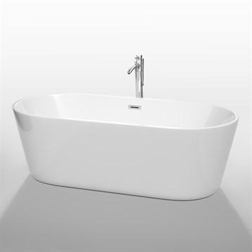 """Carissa 71"""" Soaking Bathtub by Wyndham Collection, White WC-BT1012-71 by Wyndham Collection®"""