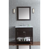 "Seacliff by Ariel Mayfield 36"" Single Sink Vanity Set with Carrera White Marble Countertop - Espresso SCMAY36SES"