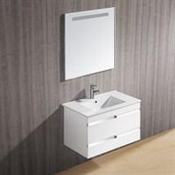 "Vigo 32"" Ethereal-Petit Single Bathroom Vanity with Mirror - White Gloss VG09031001K"