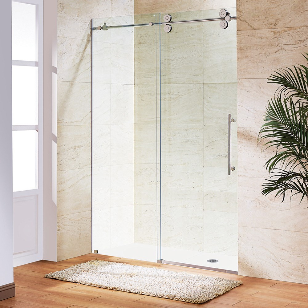"Vigo Industries Frameless Adjustable Tub Door (56"" - 60"")nohtin Sale $1498.99 SKU: VG6041-TUB-56-60 :"