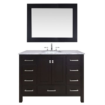 """Stufurhome 48"""" Lissa Single Sink Bathroom Vanity, Espresso GM-6412-48-ESP by Stufurhome"""