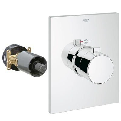 Grohe GrohFlex Grotherm F Custom Shower Thermostatic Trim with Control Module - Starlight Chrome GRO 27620000