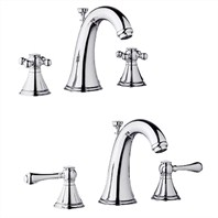 Grohe Geneva Low Spout Lavatory Wideset - Starlight Chrome
