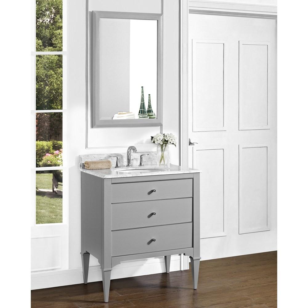 "Fairmont Designs Charlottesville 30"" Vanity for Undermount Oval Sink - Light Graynohtin Sale $1295.00 SKU: 1510-V30_ :"