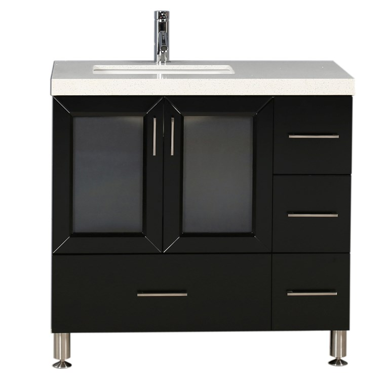 "Design Element Westfield 36"" Single Sink Vanity - Espresso WF-36"
