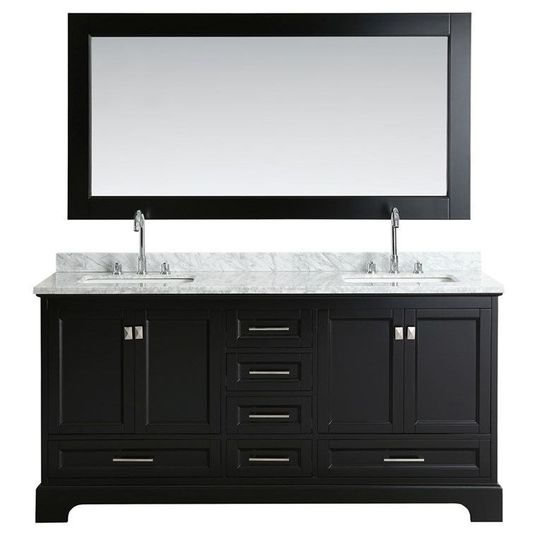 "Design Element Omega 72"" Double Sink Vanity - Espresso DEC068B-E"