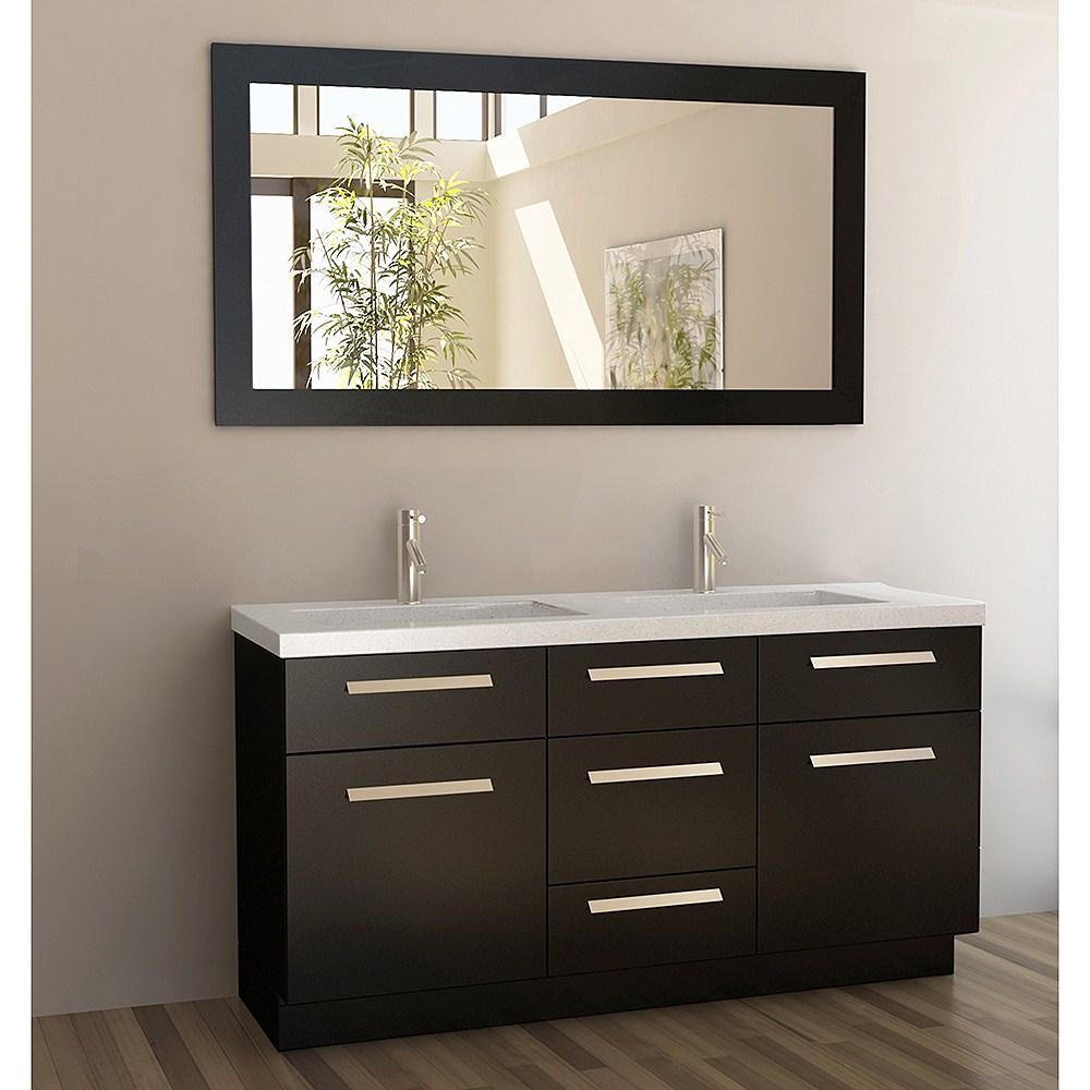 "Design Element Moscony 60"" Double Sink Vanity Set - Espressonohtin Sale $1799.00 SKU: J60-DS :"