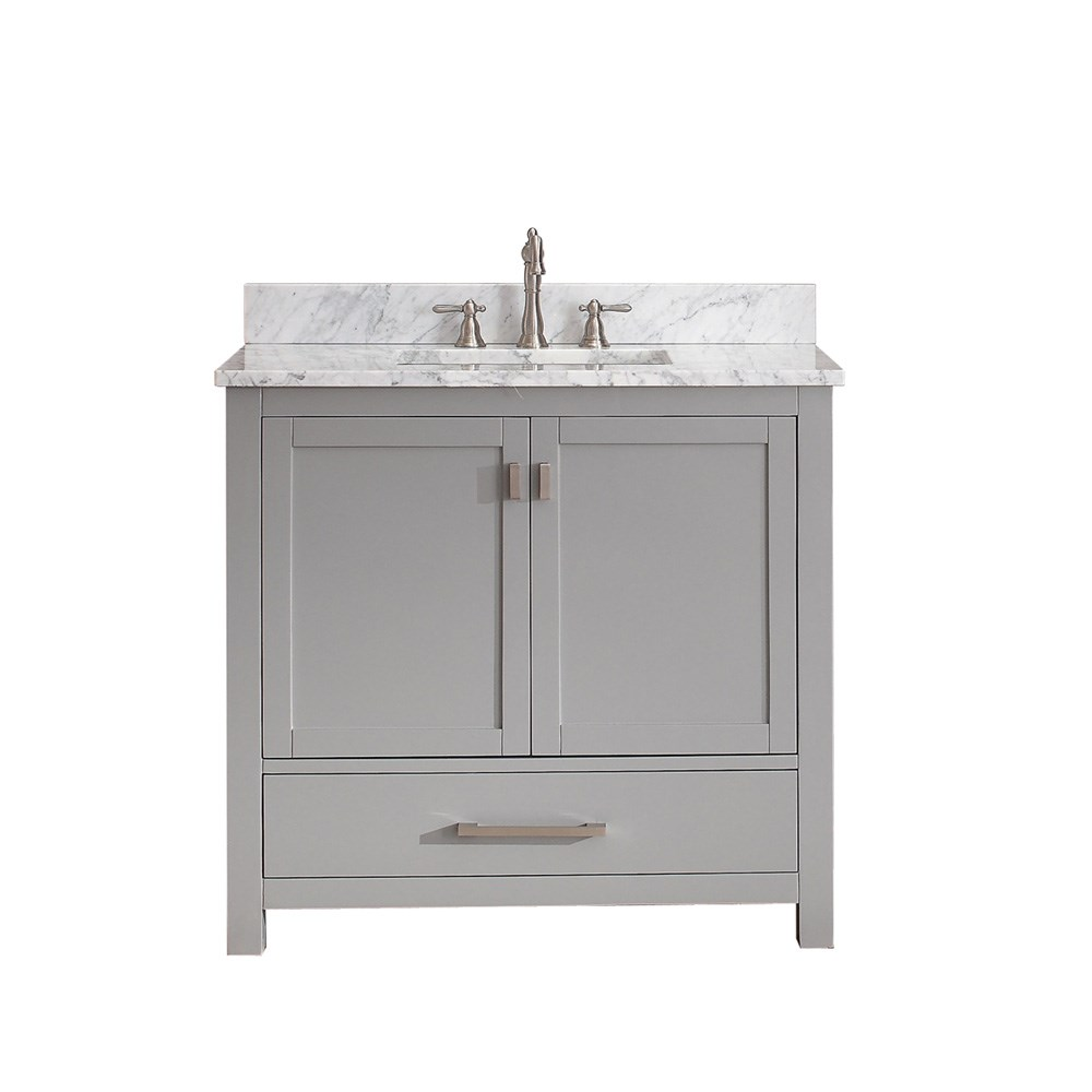 "Avanity Modero 36"" Single Bathroom Vanity - Chilled Gray"