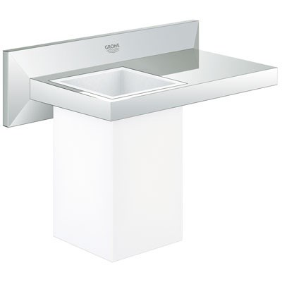 Grohe Allure Brilliant Tumbler with Shelf - Starlight Chrome GRO 40503000