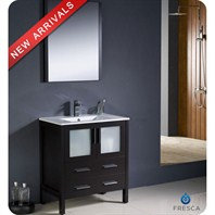 "Fresca Torino 30"" Espresso Modern Bathroom Vanity with Undermount Sink FVN6230ES-UNS"