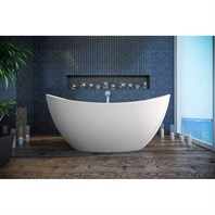 Aquatica Purescape 171 Freestanding Solid Surface Bathtub - Matte White Aquatica PS171M-Wht