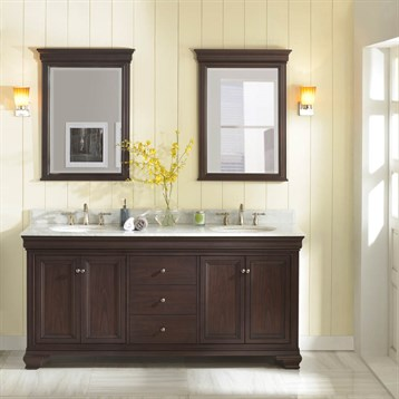 "Fairmont Designs Providence 72"" Double Bowl Vanity, Aged Chocolate 1529-V7221D by Fairmont Designs"