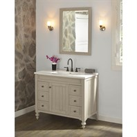 "Fairmont Designs Crosswinds 42"" Vanity for Integrated Top - Slate Gray 1524-V42-"