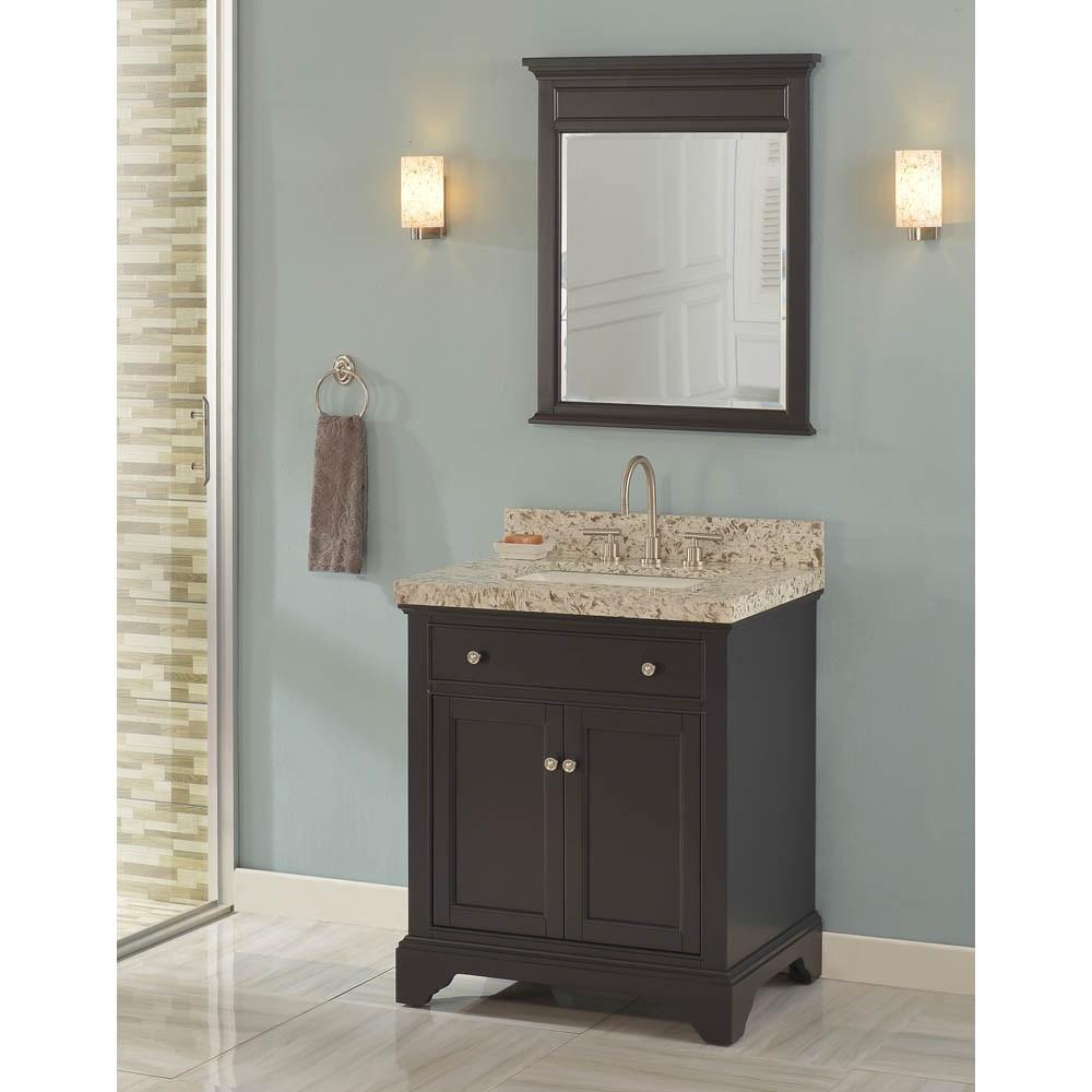 "Fairmont Designs Framingham 30"" Vanity for Quartz Top - Obsidiannohtin Sale $775.00 SKU: 1508-V30_ :"