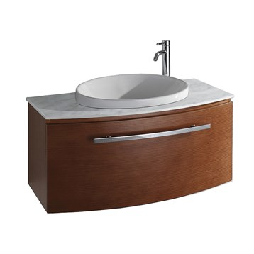Allura 40 Modern Bathroom Vanity Pear Wood Free