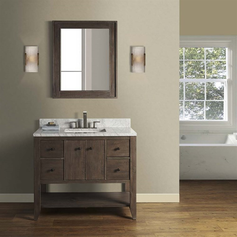 "Fairmont Designs River View 42"" Open Shelf Vanity - Coffee Bean 1516-VH42"