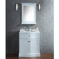 "Seacliff by Ariel Montauk 30"" Single Sink Vanity Set with Pure White Quartz Countertop - White SCMON30SWH"